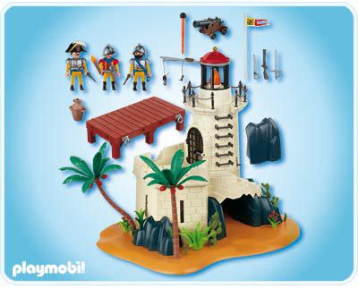 Playmobil 4294v1 - Soldiers fortress with lighthouse - Back