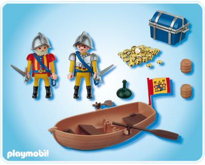 Playmobil 4295 - Treasure shipment with rowboat - Back