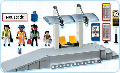 Playmobil 4304 - Train Platform - Back
