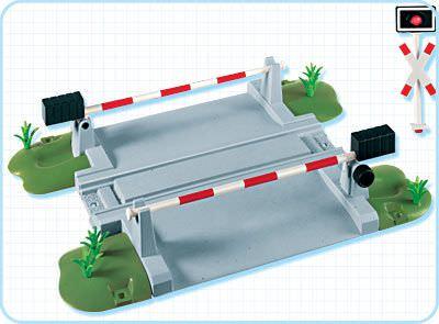 Playmobil 4306 - Train Crossing - Back