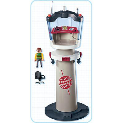 Playmobil 4313 - Airport Tower with Flashing Light - Back