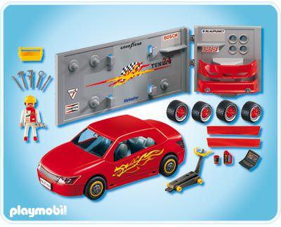 Playmobil 4321 - Car Repair and Tuning Shop - Back