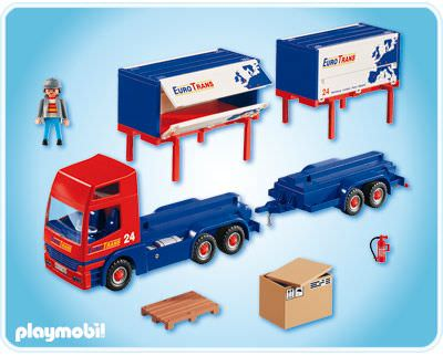 Playmobil 4323 - Truck and Trailer - Back