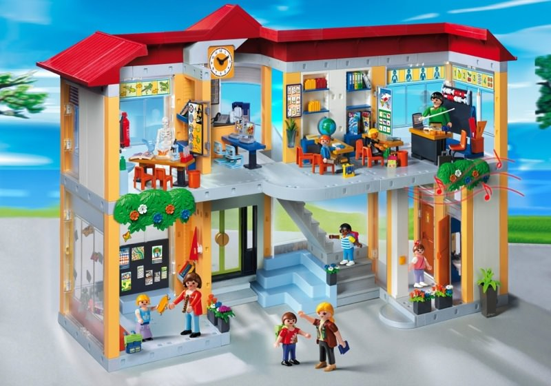 r469 orange office school pupils 4324 Playmobil