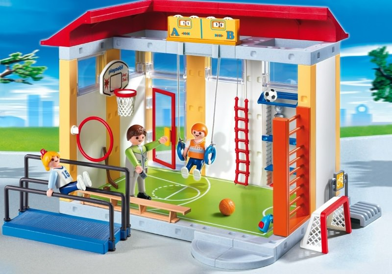 Playmobil set 4325 school gym klickypedia for Salle a manger playmobil city life