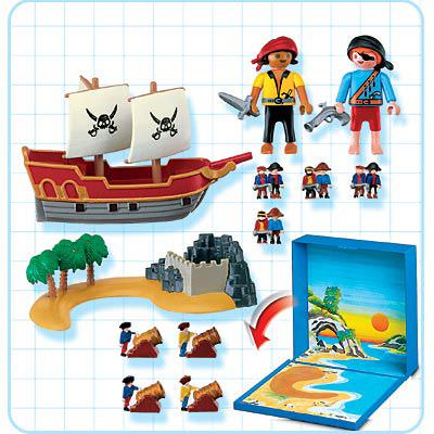 Playmobil 4331 - Pirates Micro World - Back