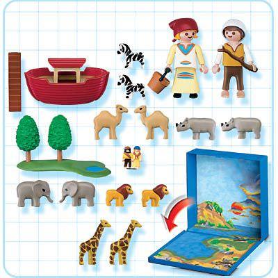 Playmobil 4332 - Noah's Ark Micro World - Back