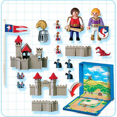 Playmobil 4333 - Knights Castle Micro World - Back