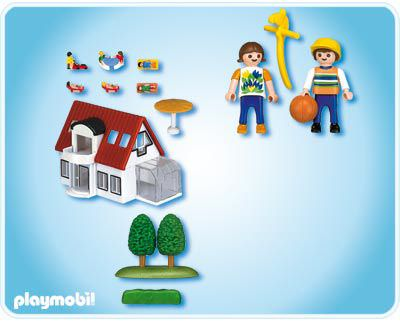 Playmobil 4335 - Modern House Micro World - Back