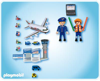 Playmobil 4336 - Airport Micro World - Back