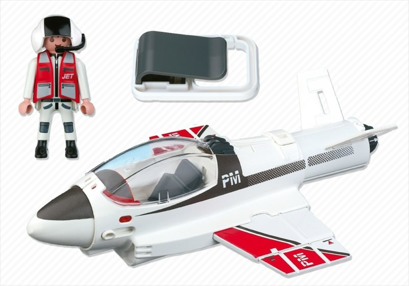 Playmobil 4342 - Carry Along Jet - Back