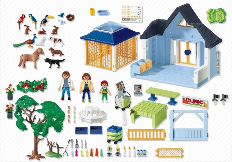 Playmobil 4343 - Animal Clinic - Back