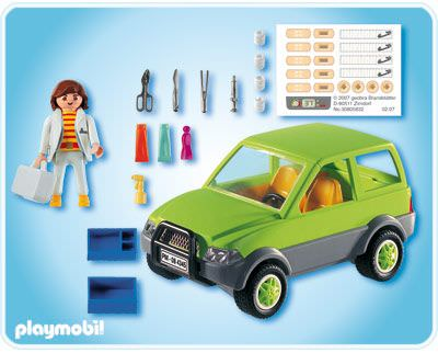Playmobil 4345 - Vet with Car - Back