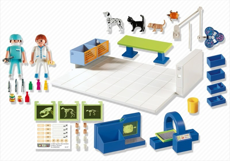 Playmobil 4346 - Vet Operating Room - Back