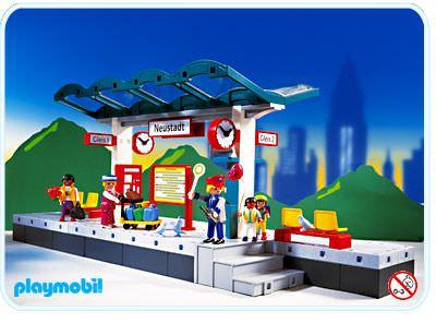 Playmobil set 4382 train platform klickypedia - Train playmobil ...