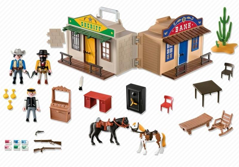 Playmobil 4398 - Oficina del sheriff y banco del oeste - Volver