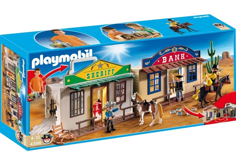 Playmobil 4398 - Oficina del sheriff y banco del oeste - Caja