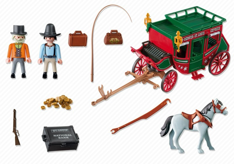 Playmobil set 4399 express stagecoach klickypedia for Kutsche playmobil