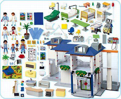 Playmobil 4404 - Hospital - Back