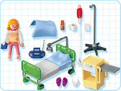 Playmobil 4405 - Hospital Room - Back