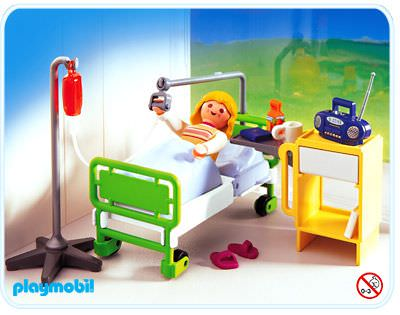 Playmobil set 4405 hospital room klickypedia for Hospital de playmobil