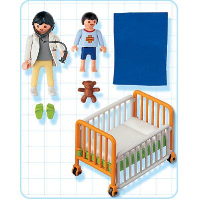 Playmobil 4406 - Hospital cot - Back