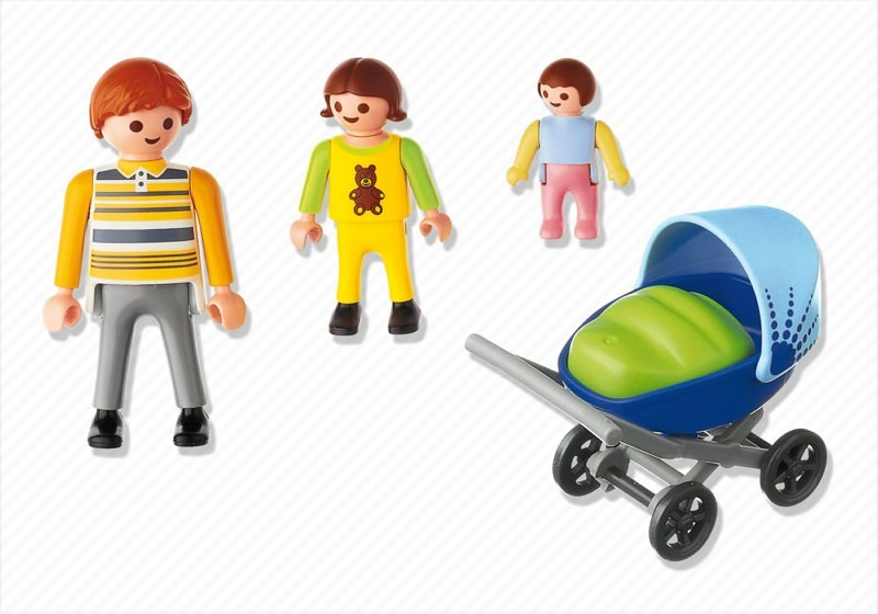 Playmobil 4408 - Dad with Stroller - Back