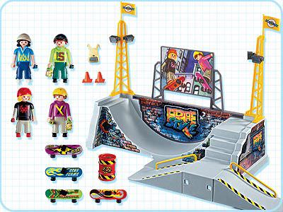 Playmobil 4414 - Skate Park with Halfpipe - Back