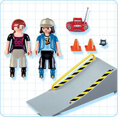 Playmobil 4415 - 2 Skaters with Ramp - Back