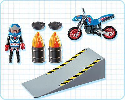 Playmobil 4416 - Motocross Rider with Ramp - Back