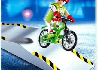 Playmobil - 4417 - Biker with Ramp