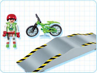 Playmobil 4417 - Biker with Ramp - Back
