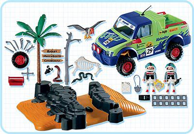 Playmobil 4421 - Offroad Race Jeep - Back