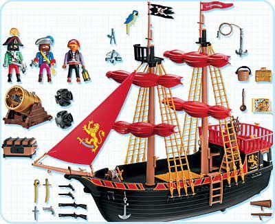 Playmobil 4424 - pirates privateer - Back