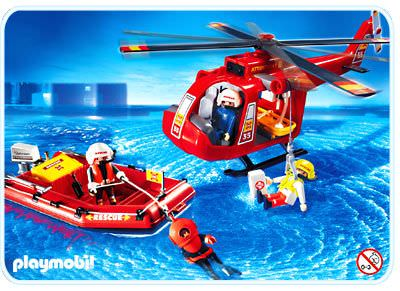 Playmobil review helic ptero y lancha rescate klickypedia for Helicoptero playmobil