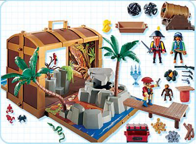 Playmobil 4432 - pirate treasure chest - Back