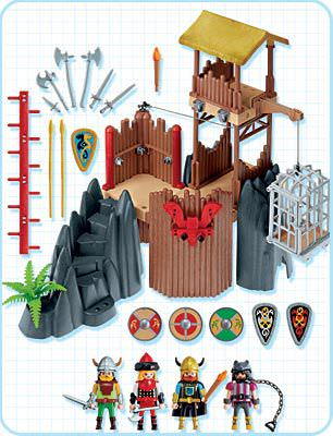 Playmobil 4433 - Viking Fortress - Back