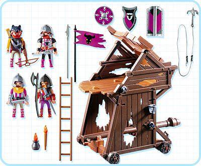 Playmobil 4439 - Barbarian Assault Tower - Back