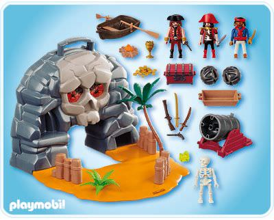 Playmobil 4443 - Take along pirate island - Back