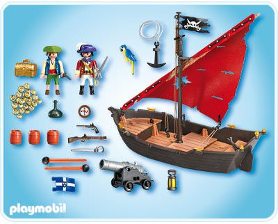 playmobil set 4444 gunboat klickypedia. Black Bedroom Furniture Sets. Home Design Ideas