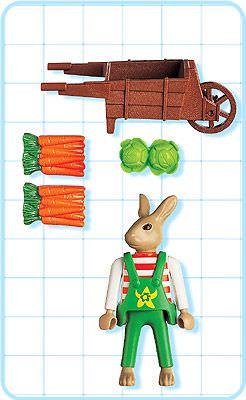 Playmobil 4451 - Easter Bunny with Wheelbarrow - Back