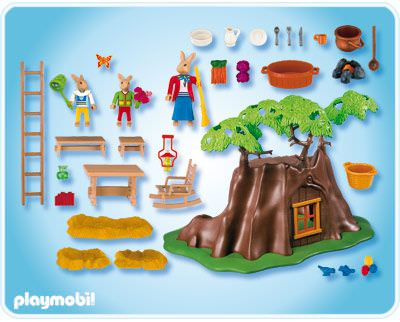 Playmobil 4460 - Easter bunny Tree-House - Back