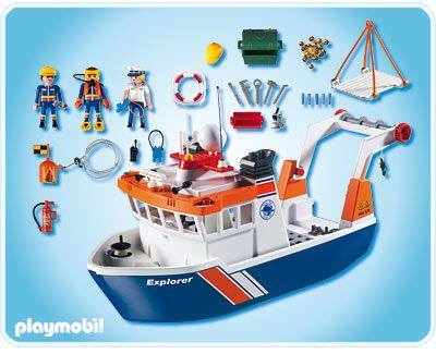 Playmobil 4469 - Expedition Ship - Back