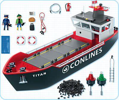 Playmobil 4472 - Cargo Ship - Back