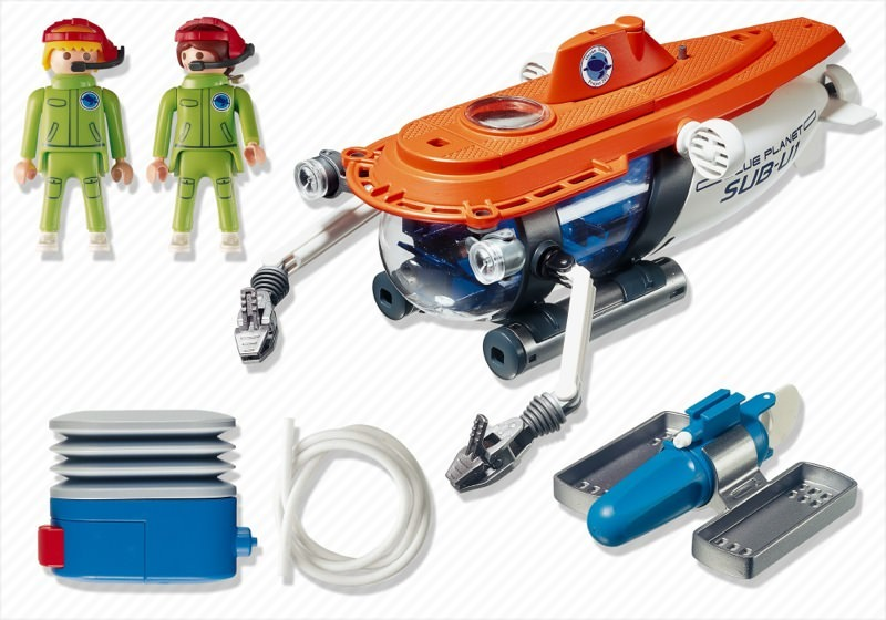 Playmobil 4473 - Research Submarine - Back
