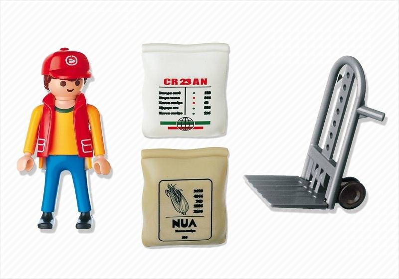 Playmobil 4475 - Dock Worker - Back