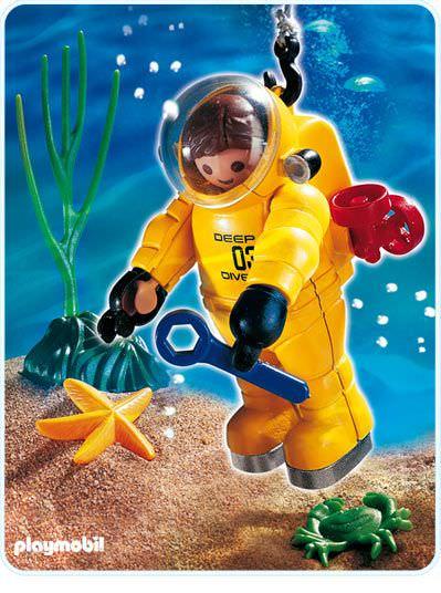 Taucher plongeur buzo diver sea duiker playmobil 4479 setnr water