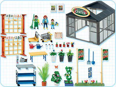 Playmobil 4480 - Garden Center - Back