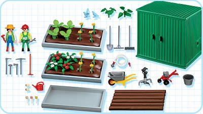 Playmobil 4482 - Plant Beds with Shed - Back