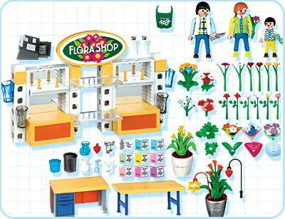 Playmobil 4484 - Flower Shop - Back